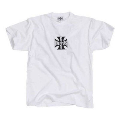 T-Shirt Homme West Coast Choppers Maltese Cross Blanc / Noir