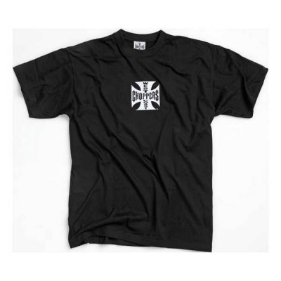 T-Shirt Homme West Coast Choppers Maltese Cross Noir / Blanc