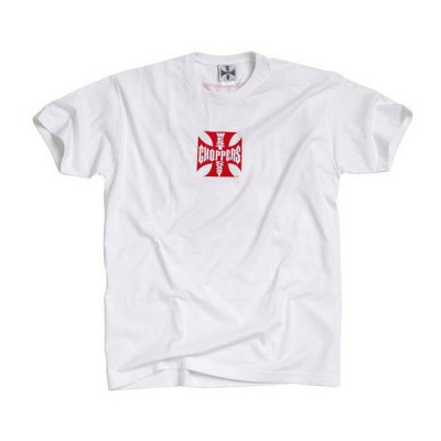 T-Shirt Homme West Coast Choppers Maltese Cross Blanc / Rouge