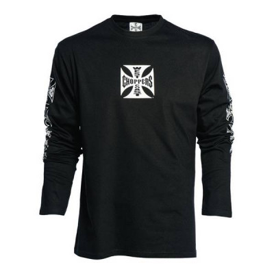 T-shirt Homme West Coast Choppers Maltese Cross Noir