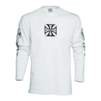 T-shirt Homme West Coast Choppers Maltese Cross Blanc