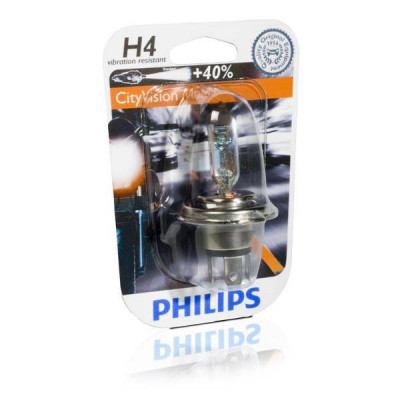 Ampoule Philips City Vision Moto H4 12V 60/55W