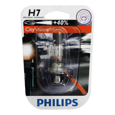 Ampoule Philips City Vision Moto H7 12V 55W