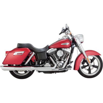 Silencieux Échappement Vance & Hines Twin Slash Chromé Dyna Switchback 12/16 Low Rider 14/17