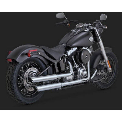 "Silencieux Échappement Vance & Hines Twin Slash 3"" Chromé Softail Deluxe, Cross Bones, Slim"