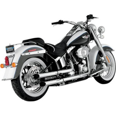 Silencieux Échappement Python Slash-Cut Chromé Softail Slim, Deluxe, Cross Bones