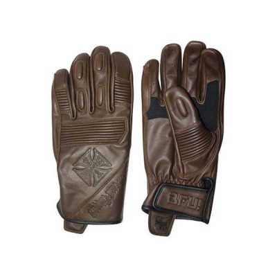 Gants Moto Homologués West Coast Choppers BFU Marron