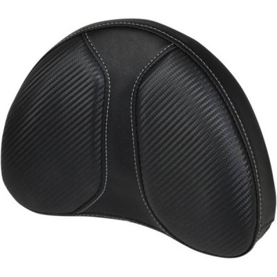 Pouf de Sissy Bar Saddlemen Dominator Noir Half-Moon