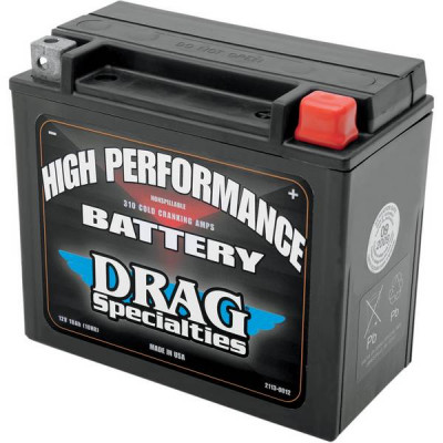 Batterie Gel High Performance Drag Specialties Dyna, Softail, Sportster, VROD
