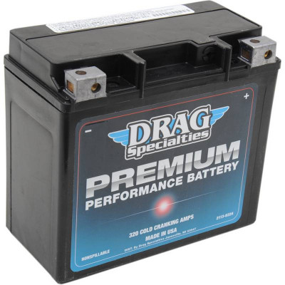 Batterie Gel Premium Performance Drag Specialties Dyna, Softail, Sportster, VROD