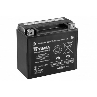 Batterie High Performance Maintenance Free Yuasa Dyna, Softail, Sportster, Shovelhead