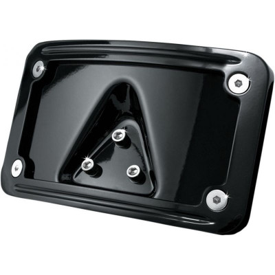 License Plate Frame Curved Laydown Black