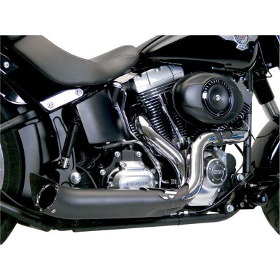 Ligne Échappement Supertrapp 2-en-1 Road Legends Phantom II Chromé-Noir Dyna, Softail 12/17