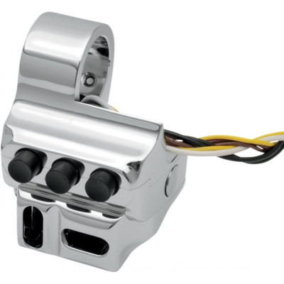 Switch Housing 5 Button Contour Cable Clutch Side Chrome