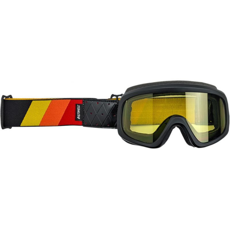 Masque Biltwell Overland 2.0 Tri-Stripe Rouge / Orange / Jaune