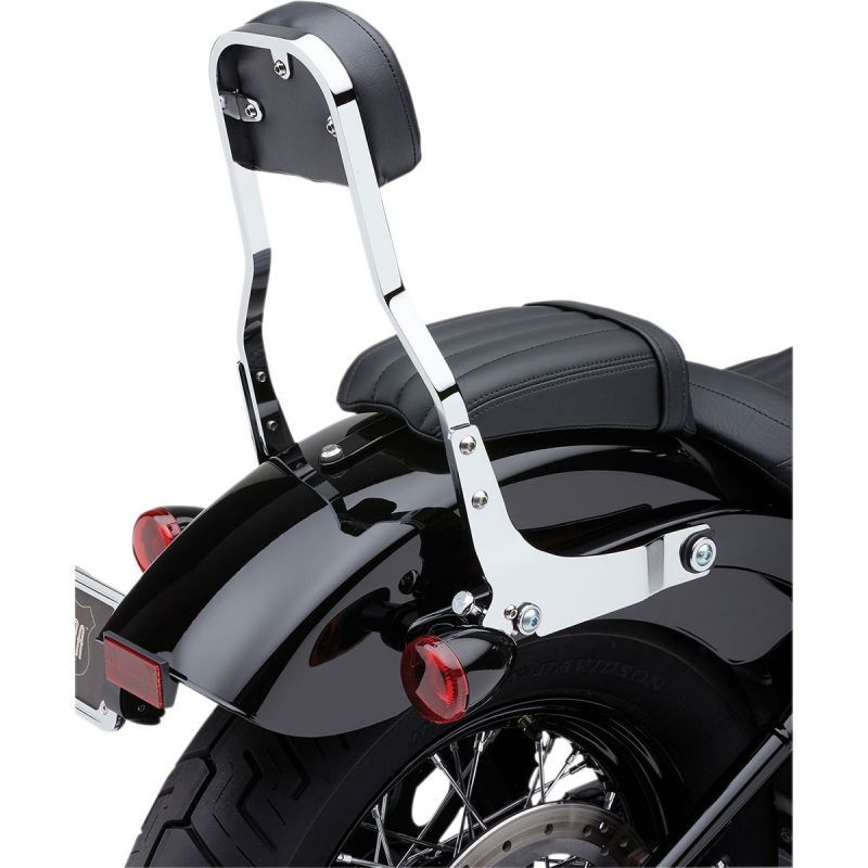 "Sissy Bar Amovible Cobra Square 14"" Chromé Softail"