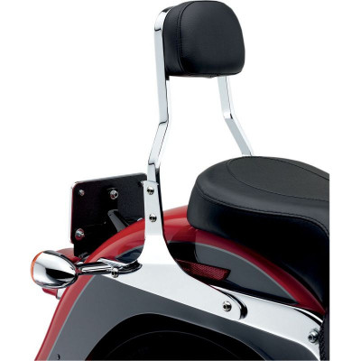 "Sissy Bar Short Cobra Square 14"" avec Dosseret Chromé Softail 06/17"