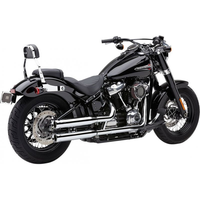 Silencieux Echappement Cobra Neighbor Hater Rolled Tip Chromé Softail