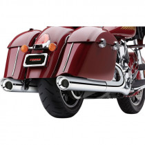 "Silencieux Echappement Cobra 4"" Scallped Noir Indian Chief, Chieftain, Springfield, Roadmaster"