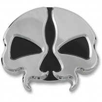 Gas Caps Split Skull Chrome
