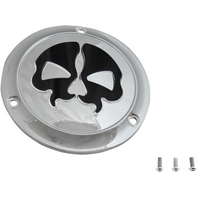 Cover Derby Split Skull 3-hole Chrome
