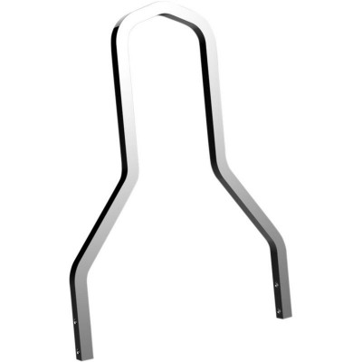 "Sissy Bar Short Square Hauteur 11"" Chromé Softail FXST, Fat Boy, Touring"