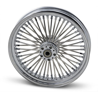 """Roue Avant 50 Rayons Fat Daddy 18"""" x 3.5"""" Chromé Touring 08/16 ABS Double Disque"""