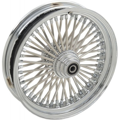 "Roue Avant 50 Rayons Fat Daddy 16"" x 3.5"" Chromé Softail Deluxe, Fat Boy, Heritage 00/06 Simple Disque"