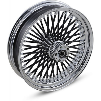 """Roue Avant 50 Rayons Fat Daddy 18"""" x 3.5"""" Noir Touring 00/07 Double Disque"""