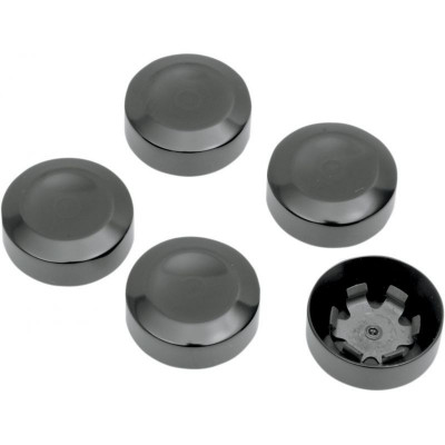 Rear Belt Pulley Bolt Covers Black