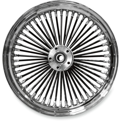 """Roue Avant 50 Rayons Fat Daddy 16"""" x 3.5"""" Noir Softail Deluxe, Fat Boy, Heritage 00/06 Simple Disque"""
