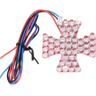 Taillight Maltese Cross Led-board Red