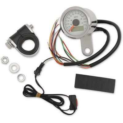 "Electronic Speedometers With Indicator Lights 1-7/8"" Mini Programmable 120 Mph"