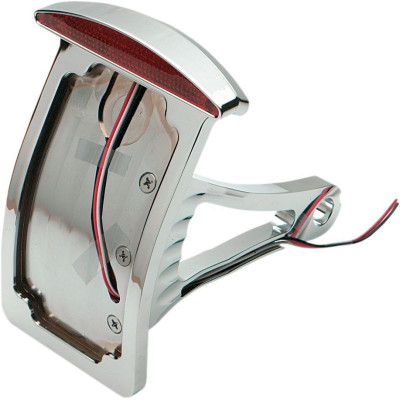 Taillight Led Half-moon W/ Curved Vertical Side-mount License Plate