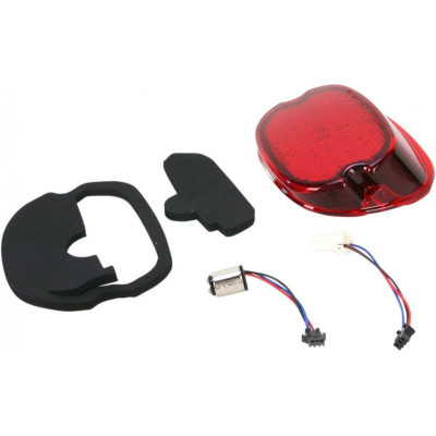 Taillight Low-profile Led Red Lens W/ Bottom Taglight