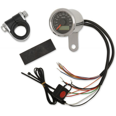 "Electronic Speedometers With Indicator Lights 1-7/8"" Mini Programmable 220 Kph"