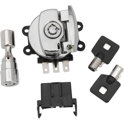 Chrome Side Hinge Ignition Switch With Fork Lock