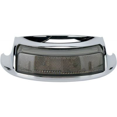 Rear Fender Tip Light Smoke Lens Chrome