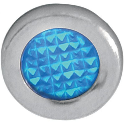 "Snap-in Indicator Light Blue 0.3"" Stainless Steel Bezel"