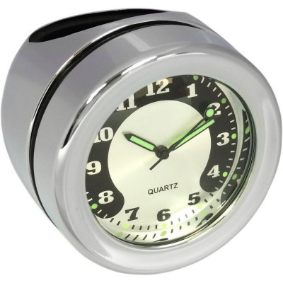 Bar Mount Clock Chrome