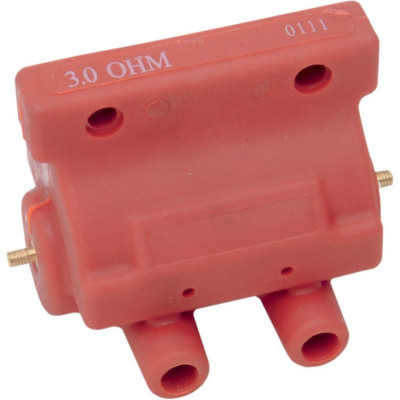 Coil 12v Dual-fire 3 Ohm Red