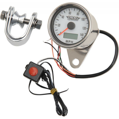"Electronic Speedometer 2.4"" Polished White Face"