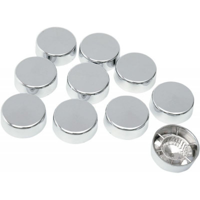 """Chrome Hex Bolt/nut Cover 5/8"""" W/ Washer"""