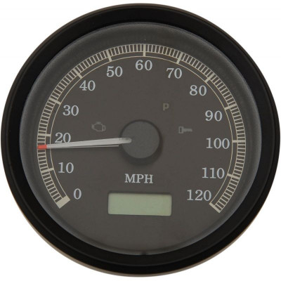 "Electronic Speedometers Mph Programmable 3-3/8"" Black"