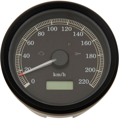 "Electronic Speedometers Kph Programmable 3-3/8"" Black"