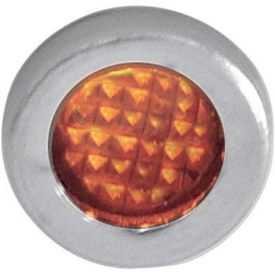 "Snap-in Indicator Light Amber 0.3"" Stainless Steel Bezel"