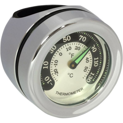 Bar Mount Thermometer Chrome