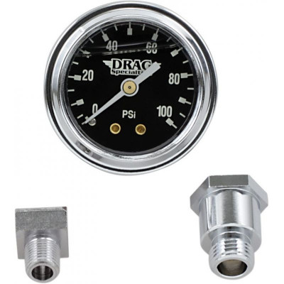 "Oil Pressure Gauge 1.75"" 100lb. Black Face"
