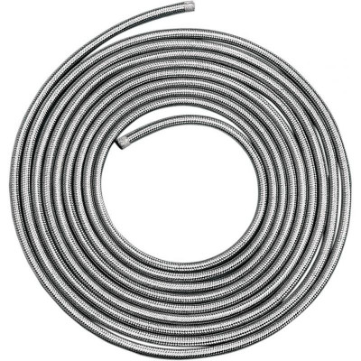 "Stainless Steel Braided Hose 1/4""x6'"