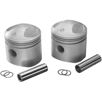 "Kit Pistons High Compression 3.498"" +0.040"" Ratio: 8:1 Shovel Dyna Touring 78/84"